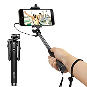 selfie stick carloue battery free wired selfie stick for iphon. Black Bedroom Furniture Sets. Home Design Ideas