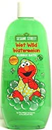 Sesame Street Elmo Wet Wild Watermelon Bubble Bath 16 oz. (3-Pack) with Free Nail File