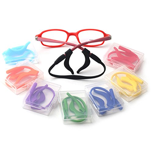 23f43f7d68f Kalevel Glasses Ear Girp Hook Eyeglass Ear Socks Sport Eyeglass Strap Holder  Set (Red)