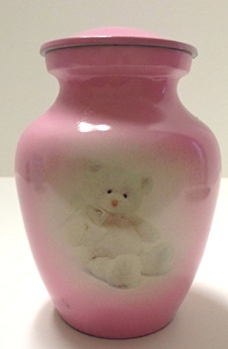 Gorgeous pink teddy bear funeral cremation urn, pet or human infant urns (Pink Pet Urns compare prices)