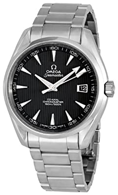 Omega Men's 231.10.42.21.06.001 Seamaster Aqua Terra Chronometer Black Dial Watch