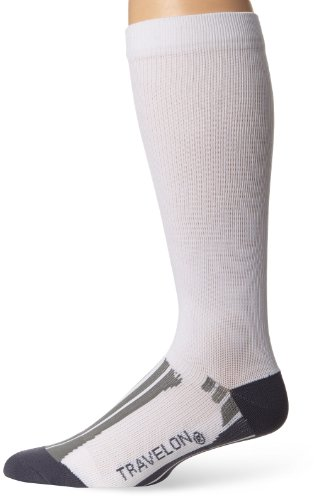 travelon-calcetines-de-deporte-para-hombre-color-white-gray-tamano-8-x-3625-x-1