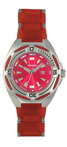 Immersion IM6962 Gents Watch Quartz Analogue Red Dial Red Plastic Strap