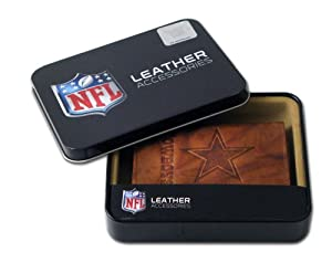 NFL Dallas Cowboys Embossed Genuine Cowhide Leather Trifold Leather Wallet