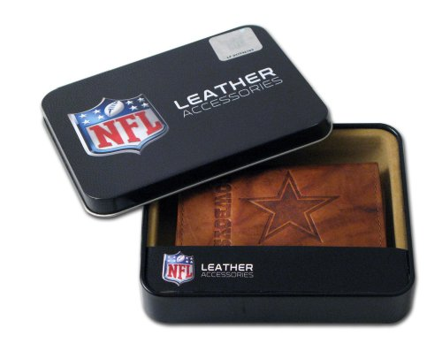 NFL Dallas Cowboys Embossed Trifold Leather Wallet at Amazon.com