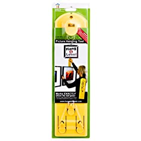 Under the Roof Decorating 6-100101 Hang and Level Picture Hanging Tool, Yellow