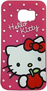 Meephone hello kitty back cover Samsung Galaxy S6 Edge Plus Pink