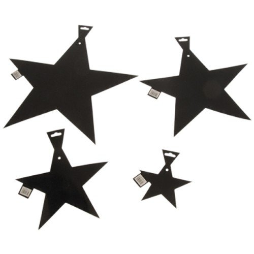 12 In Foil Star/Black