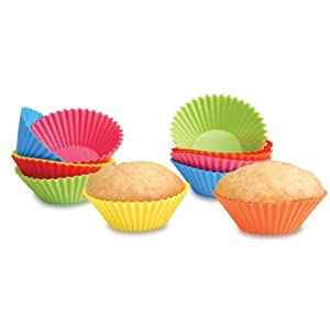 assorted cupcake baking forms