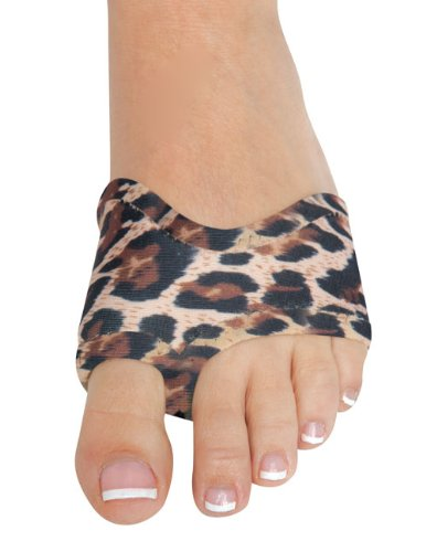 Neoprene Half Sole Lyrical Dance Footwear in Big Leopard Print Small Reviews