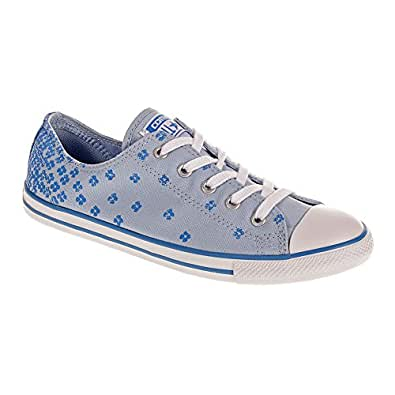Converse all stars dainty floral shoes blue for Converse all star amazon