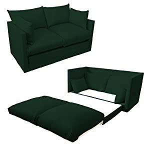 Shopisfy Children's 2 Seater Compact Fold Out Sofa Bed - Dark Green by Shopisfy