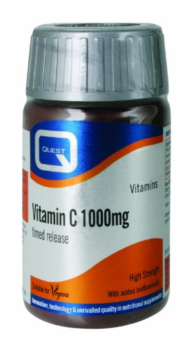 Quest 1000mg Vitamin C Timed Release Vegan - Pack of 120 Tablets