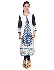 Aavran Women's Viscose Regular Fit Kurta - B015J5DFXY