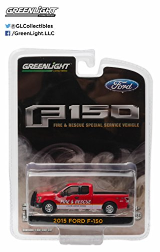 2015 Ford F-150 Fire & Rescue Special Service Truck Vehicle * Hobby Exclusive * 2016 Greenlight Collectibles Limited Edition 1:64 Scale Die-Cast Vehicle