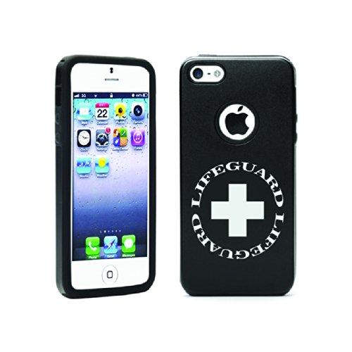 Apple Iphone 5C Aluminum & Silicone Case Lifeguard - Lifetime Warranty (Black)