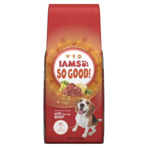 Iams So Good Wholesome Blends With Hearty Beef Adult Dog Food, 6.3-Pound