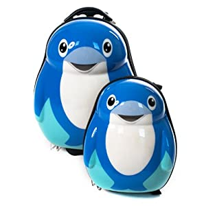 Skykidz Dolphin - Childrens Carry-on Luggage Set