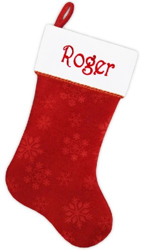 Personalized Christmas Stocking - Embroidered Free
