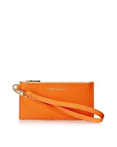 Tory Burch Women's York Zip Card Case, Mandarin Orange