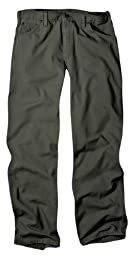 Dickies Men\'s Relaxed Fit Straight leg Duck Carpenter Jean, Moss, 36x32