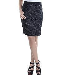 VeaKupia Women's Slim Regular Fit Skirt (7004, Black, 30)