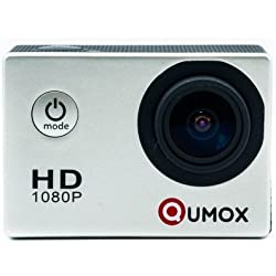 QUMOX @ SJ4000 Silver Action Sport Cam Camera Waterproof Full HD 1080p 720p Video Helmetcam con cassa impermeabile