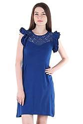 Vvoguish Indigo Stripe Printed Women Dress