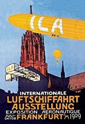 30 x 20 Canvas. I.L.A. - Airship, Balloon and Plane Fly over a Cathedral in Frankfort