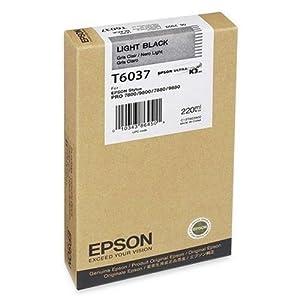Epson T603700 220 ml Light Black UltraChrome K3 Ink Cartridge