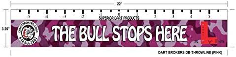 L-Style X Pink Camo Dart Throw Line Marker