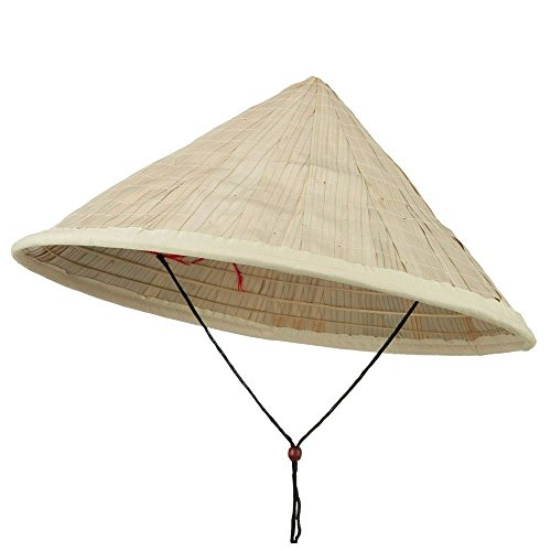 Coolie Hat Asian Japanese Large Straw Bamboo Sun Rice Farmer Costume Accessory (Rice Straw compare prices)