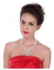 Pearlz Ocean White Three Strands Shell Pearl Necklace Set