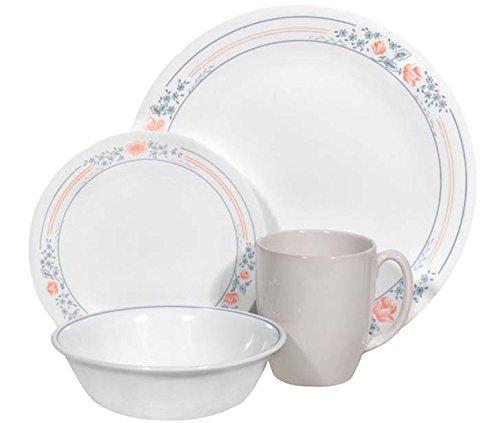 Corelle Livingware 16 piece Dinnerware Set, Service for 4, Apricot Grove (Clearance Corelle Dishes compare prices)