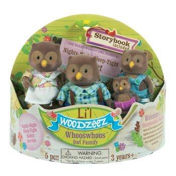 LI'L WOODZEEZ The Whooswhoo Owl Family with Storybook by Battat