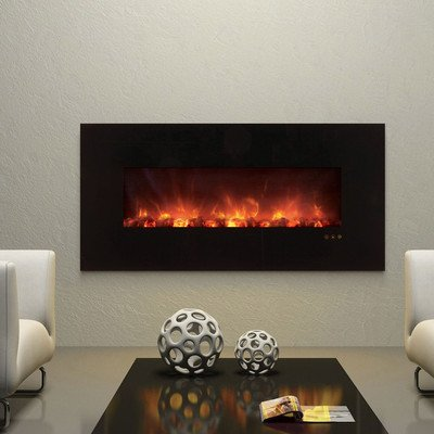 """Clx Series Ambiance Custom Linear Delux Electric Fireplace Size: 25.5"""" H X 60"""" W X 5.13"""" D"""