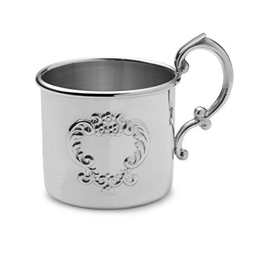 Empire Raised Design Pewter Baby Cup - 1