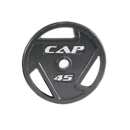 Cap Barbell Free Weights 45-Pounds Olympic Grip Plate