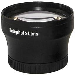 Zeikos ZE-2X37B 37mm High Quality 2x Telephoto Lens (Black)