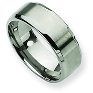 Titanium 8mm Brushed Mens Wedding Ring Band Size 11