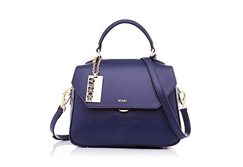 bonia-womens-blue-treasure-satchel
