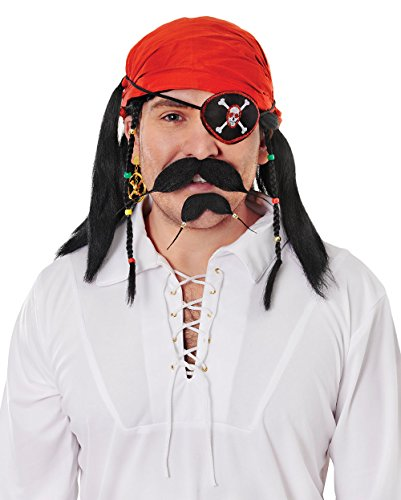 Pirate Moustache & Beard (Moustaches And Beards) - Male - One Size
