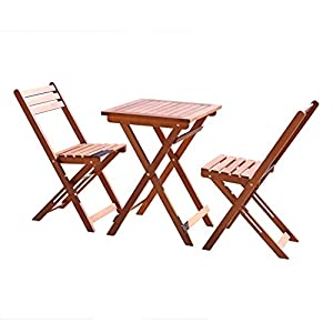 vifah v1381 outdoor wood folding bistro set