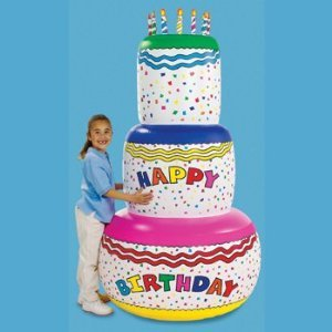 Jumbo Happy Birthday Inflatable Birthday Cake Party Decoration 6 Foot Tall front-911223