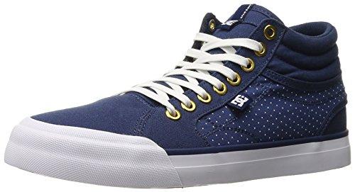 DC Evan HI TX SE Skate Shoe, Blue/Brown/White, 8.5 M US