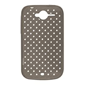Dark Gray Woven Pattern Soft Case for HTC Wildfire G8