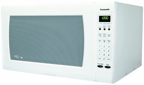 Panasonic NN-H765WF Genius 1.6 cuft 1250-Watt Sensor Microwave with Inverter Technology, White