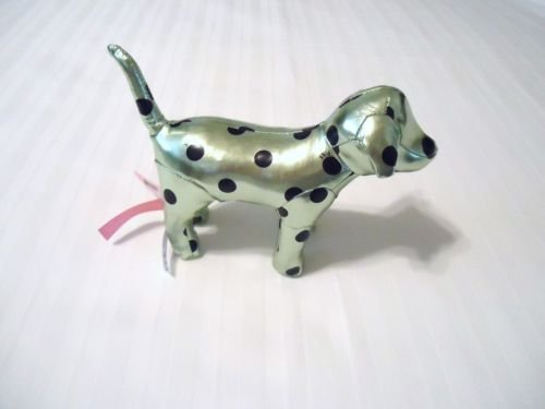 Victoria's Secret PINK Metallic Green Polka Dot DOG - 1