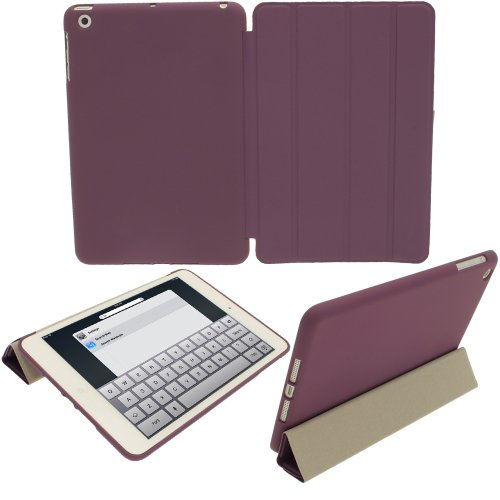 iGadgitz Purple Rubberised Plastic with Hard Back 'Cover Mate Plus' Case Cover for New Apple iPad Mini Wi-Fi 16GB 32GB 64GB. With Sleep/Wake Function.