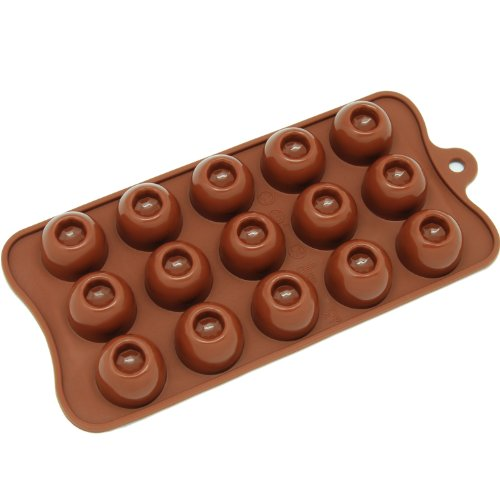 Freshware-CB-607BR-Silicone-Break-Apart-Chocolate
